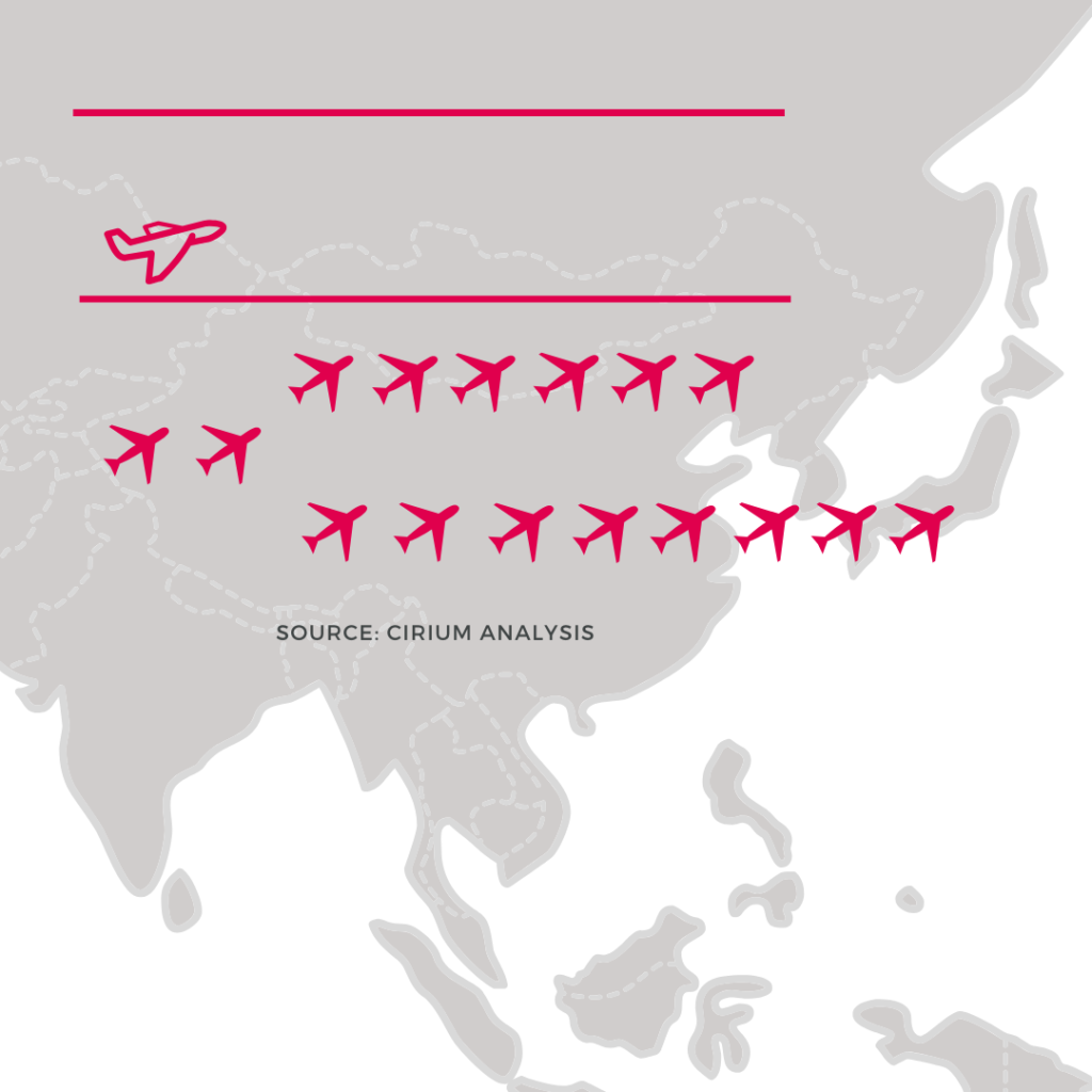 Airline cancellations in Asia