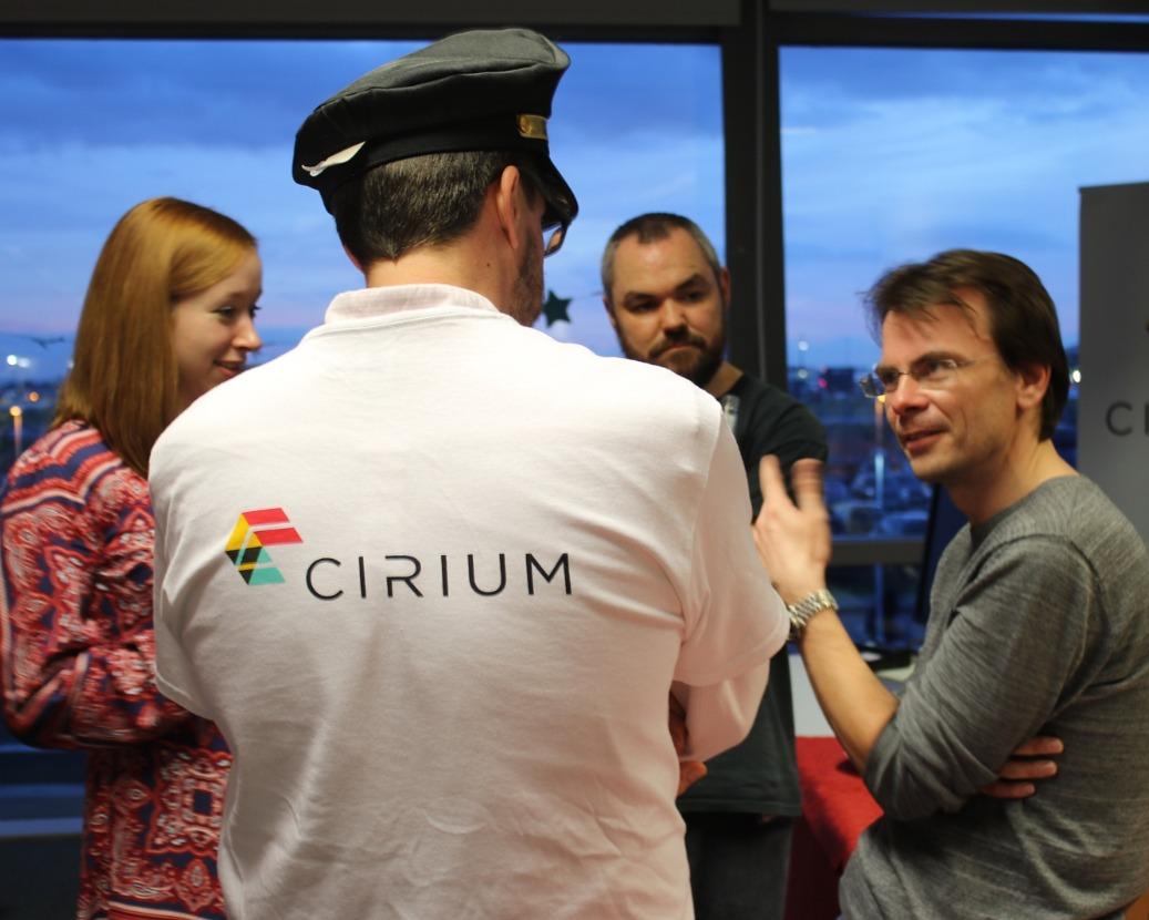 Cirium engineers working in the Heathrow office