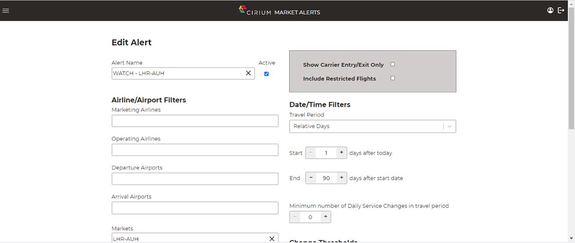 Customized market alerts