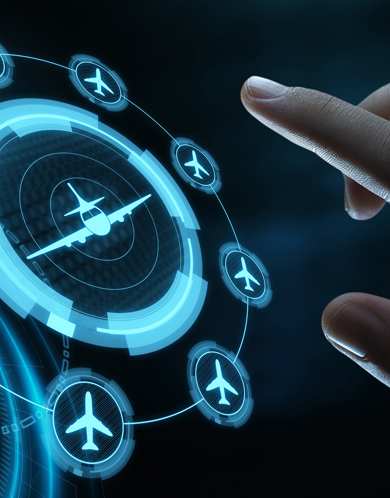 screen of touch based aircraft application