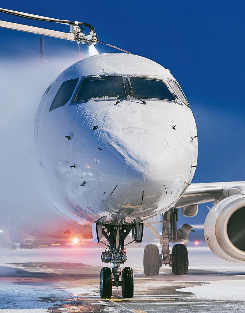 Deicing aircraft equipment
