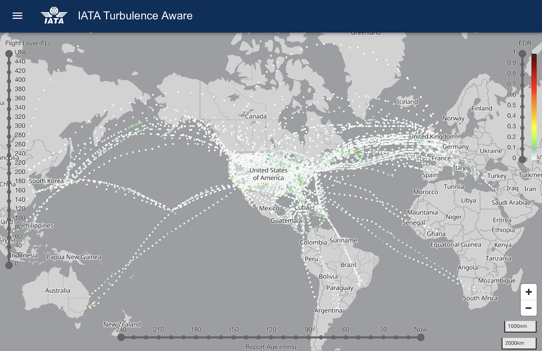 IATA Turbulence on Cirium Sky
