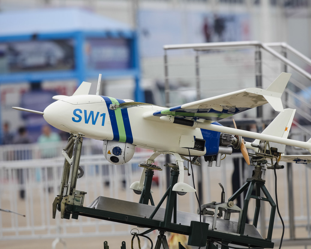 Fixed wing UAS drone and launch