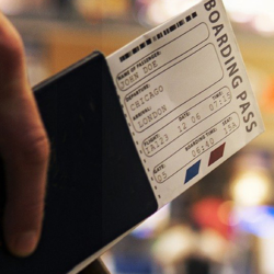 boarding pass representing load and fares