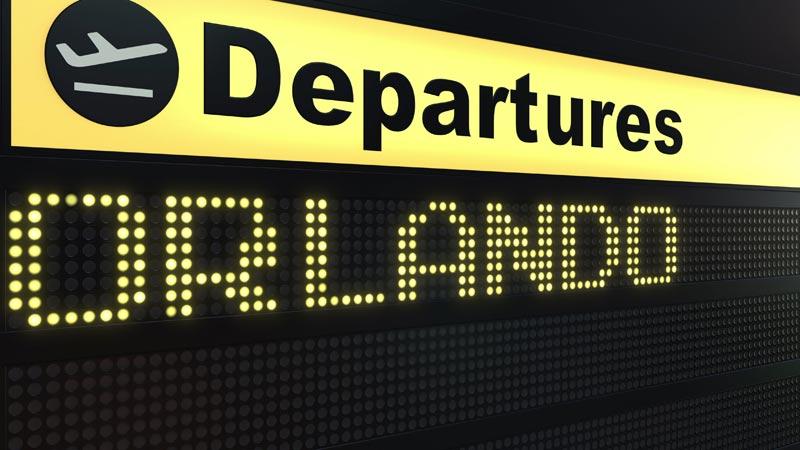 Orlando Airport Departure Signage
