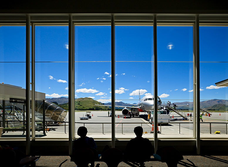Queenstown airport New Zealand