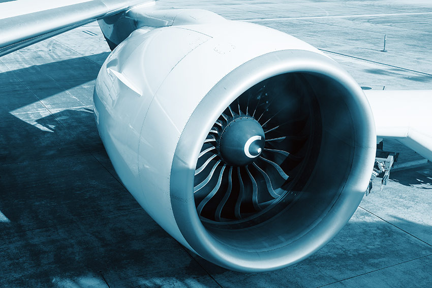 engine of the Boeing 777-300ER